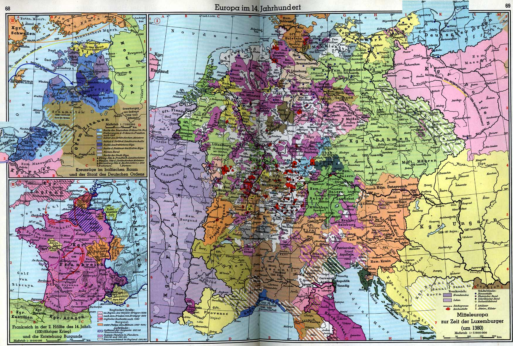 14th Century Map Of Europe.Maps