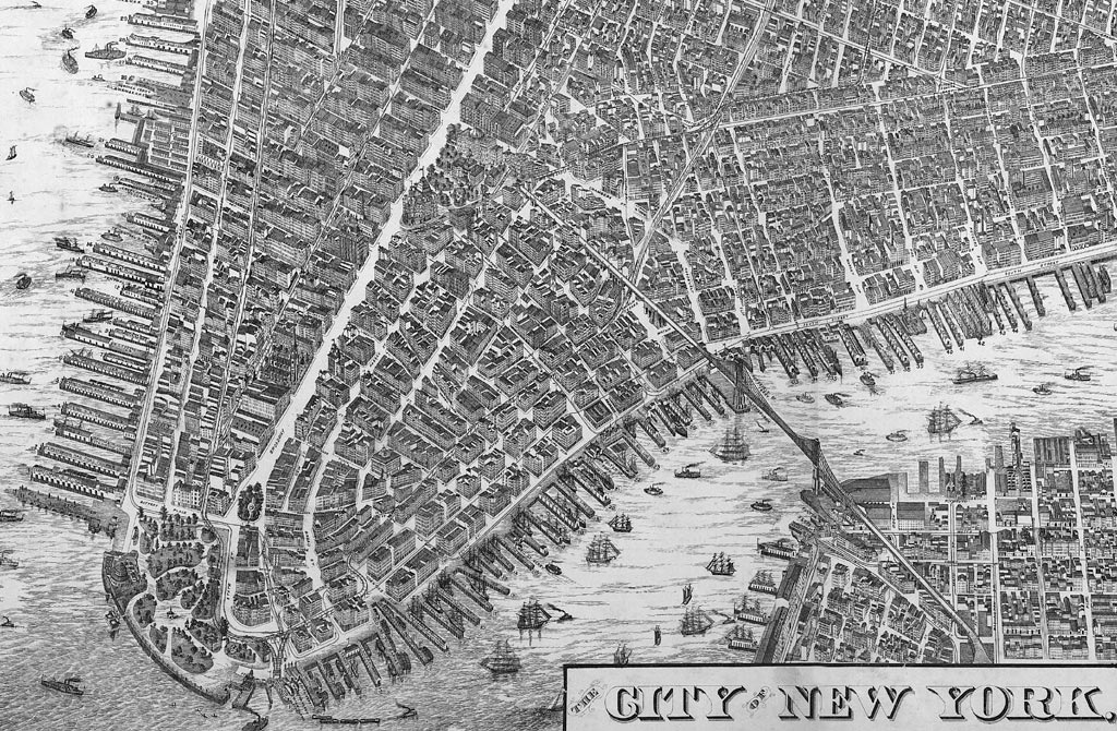 the city of new york will l taylor chief draughtsman published by galt hoy in 1879 south of chamber street