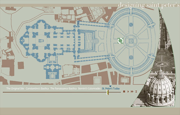 Baroque Architecture Drawings Designing Saint Peter's Web