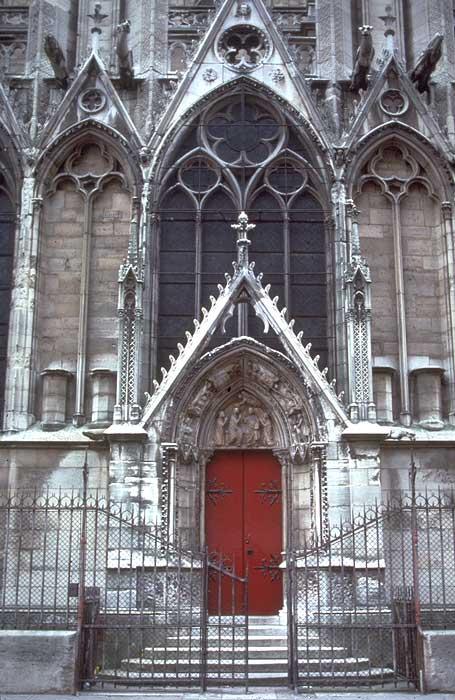 France Paris Cathedral Of Notre Dame Porte Rouge