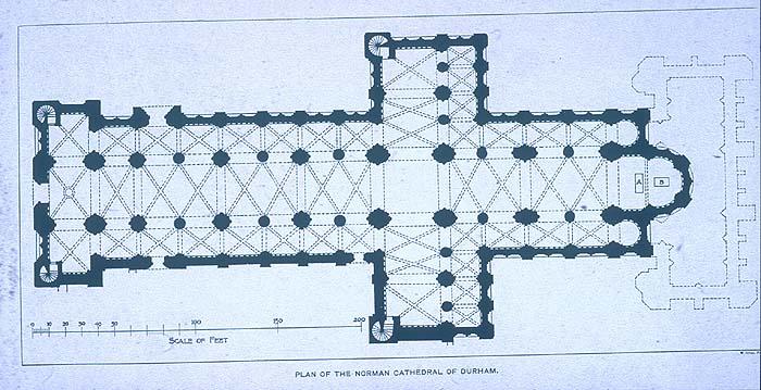 Great Britain Durham Cathedral Plan